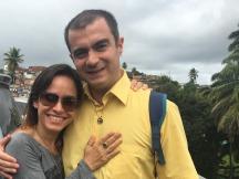 Com a Professora Lidiane Pinheiro. Fonte: Lidiane P.